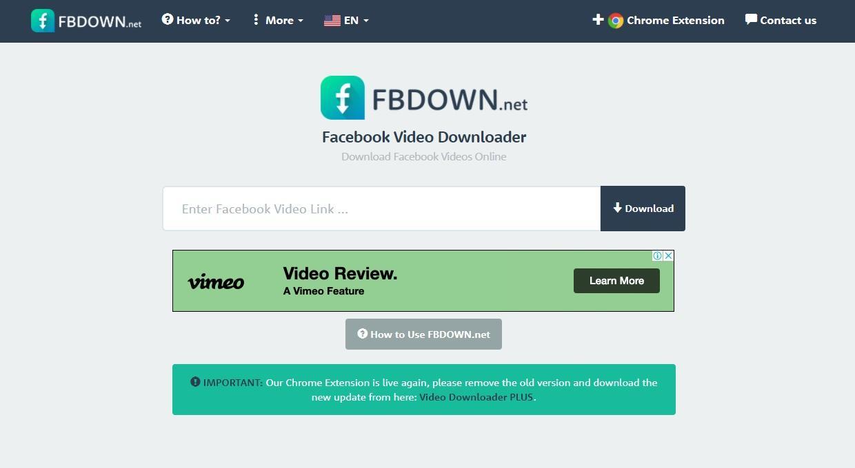 Website FBDOWN