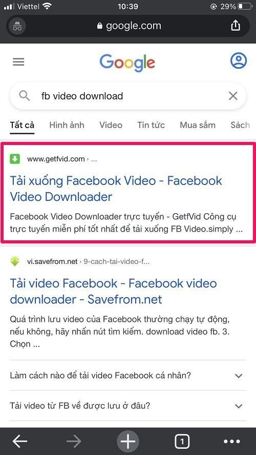 Website tải video trên Facebook