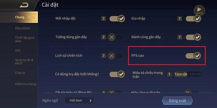 Bật FPS cao để chơi game mượt hơn trên Android