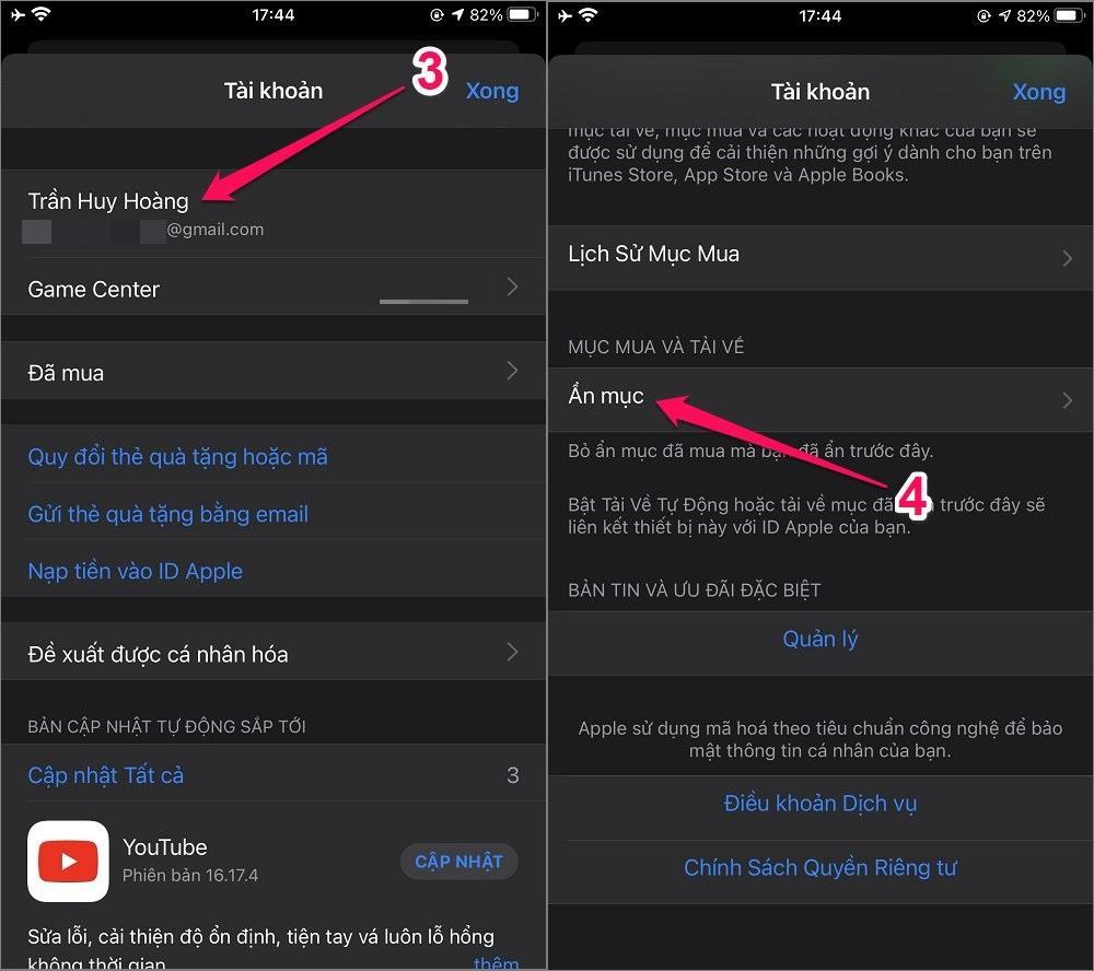 Cách ẩn ứng dụng iPhone/iPad khỏi lịch sử mua hàng trên App Store