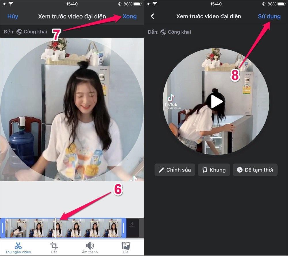 Cách đặt video làm Avatar (Ảnh đại diện) trên Facebook