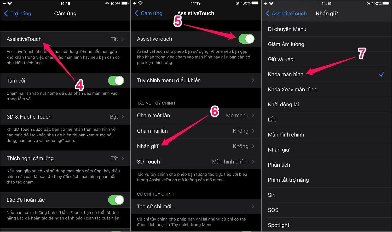 Cách khóa màn hình iPhone bằng Assistive Touch, không dùng nút nguồn