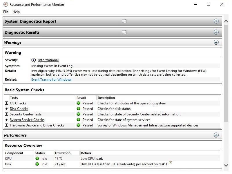 Cách 1: Kiểm tra hiệu năng máy tính Windows bằng Performance Monitor