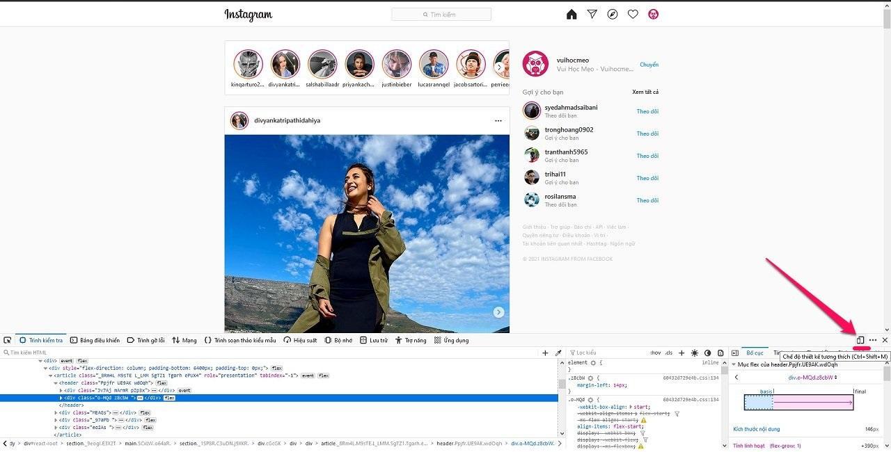 Hướng dẫn cách đăng hình ảnh lên Instagram bằng Trình duyệt web Máy tính