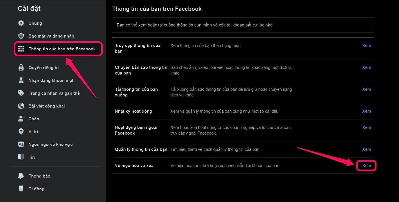 Hướng dẫn cách khóa Facebook tạm thời trên Máy tính