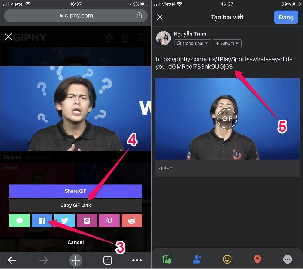 Hướng dẫn cách tải GIF lên Facebook bằng GIPHY