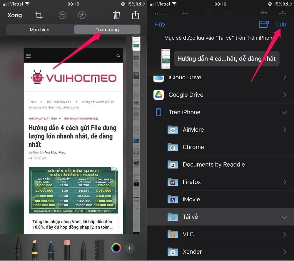 Hướng dẫn cách tải trang web về điện thoại để đọc offline