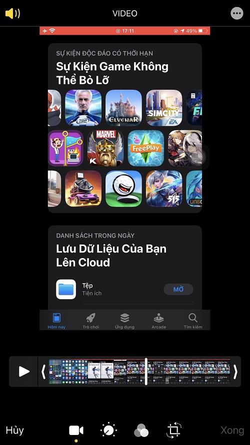 Hướng dẫn chỉnh sửa bản Quay màn hình trên iOS (iPhone/iPad)