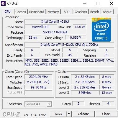 Phần mềm test hiệu năng máy tính Windows - CPU-Z