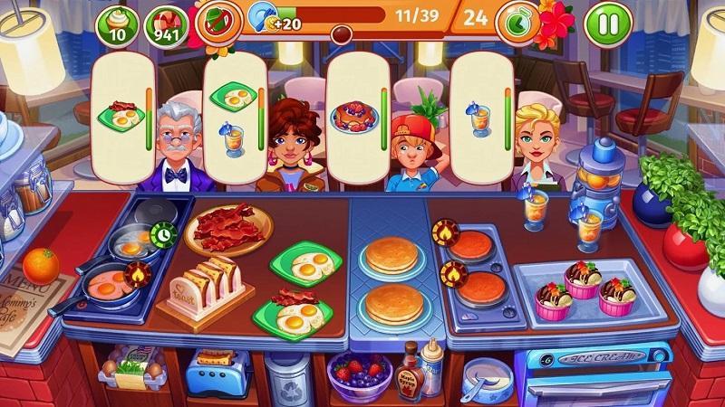 Game nấu ăn hay nhất cho điện thoại - Cooking Craze