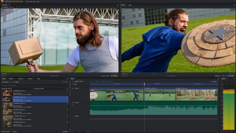 Phần mềm chỉnh sửa video miễn phí tốt nhất trên máy tính - HitFilm Express