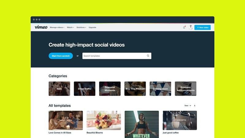 Phần mềm chỉnh sửa video miễn phí tốt nhất trên máy tính - Vimeo Create