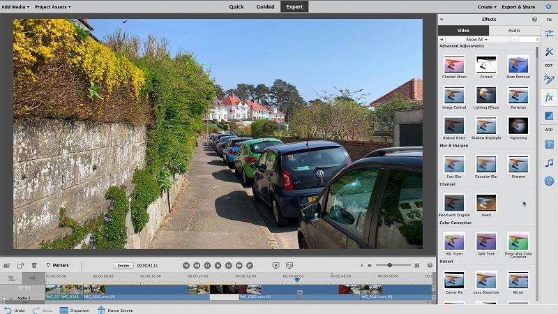 Phần mềm chỉnh sửa video tốt nhất trên máy tính - Adobe Premiere Elements