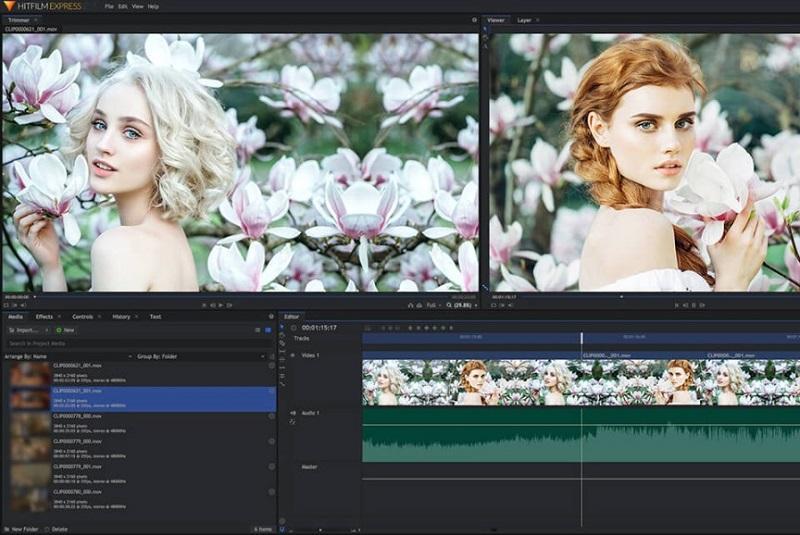 Phần mềm chỉnh sửa video tốt nhất trên máy tính - HitFilm Express