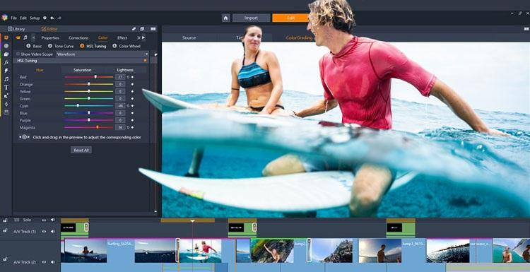 Phần mềm chỉnh sửa video tốt nhất trên máy tính - Pinnacle Studio