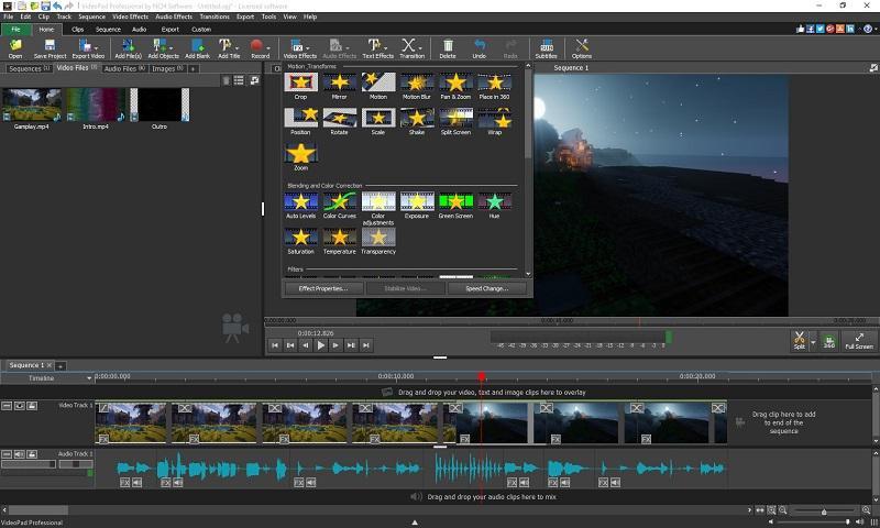 Phần mềm chỉnh sửa video tốt nhất trên máy tính - VideoPad