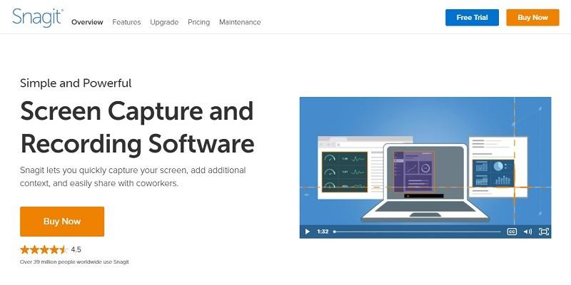 Phần mềm quay màn hình máy tính chất lượng cao - Snagit