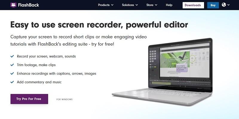 Phần mềm quay màn hình máy tính gọn nhẹ - Flashback Express