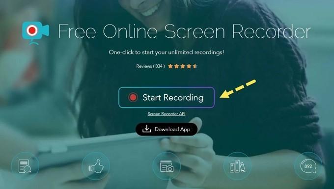 Phần mềm quay màn hình máy tính miễn phí - Apowersoft Free Online Screen Recorder