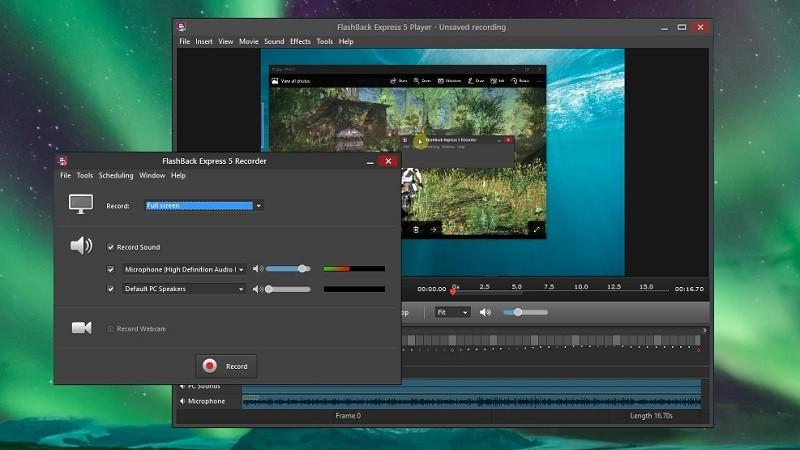 Phần mềm quay màn hình máy tính miễn phí - FlashBack Express