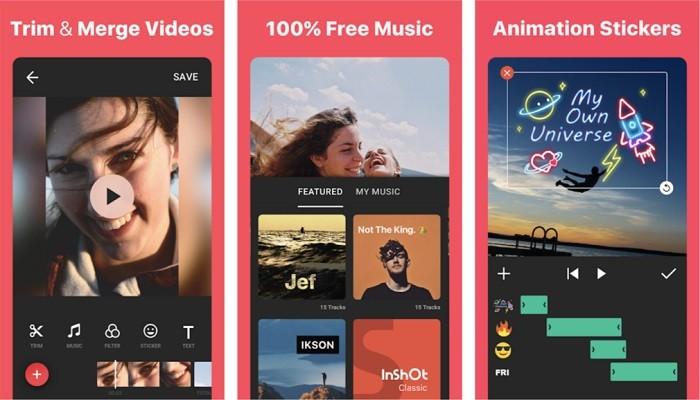 Ứng dụng chỉnh sửa video trên điện thoại tốt nhất - Inshot