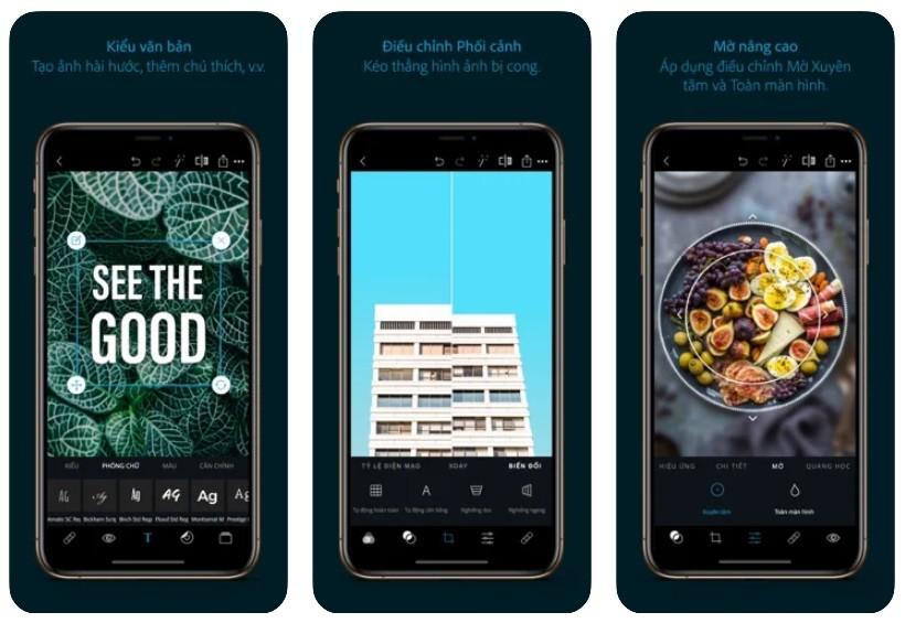 App chụp đồ ăn đẹp cho iPhone/Android: Adobe Photoshop Express