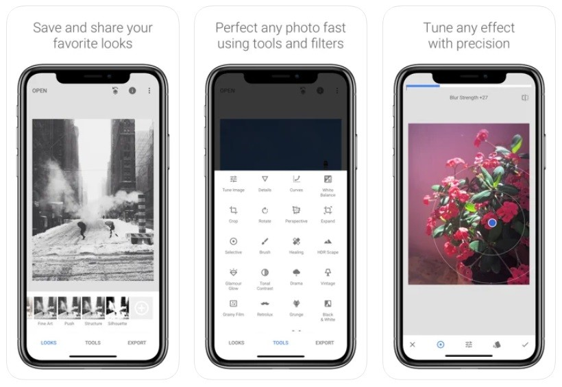 App chụp đồ ăn đẹp cho iPhone/Android: Snapseed