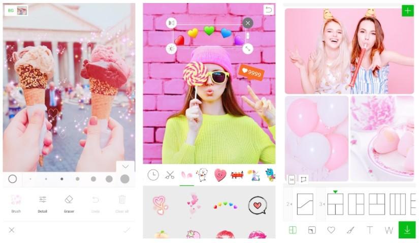 App thêm Sticker vào ảnh - LINE Camera