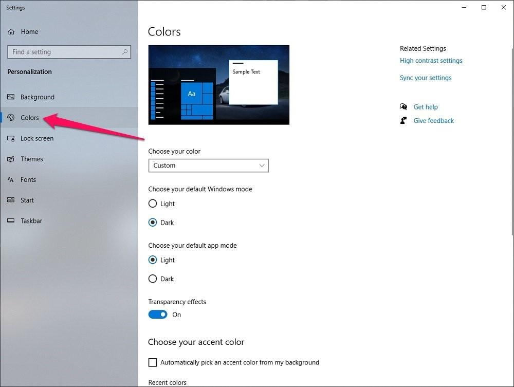 Hướng dẫn cách Bật/Tắt chế độ Dark Mode trên Windows 10