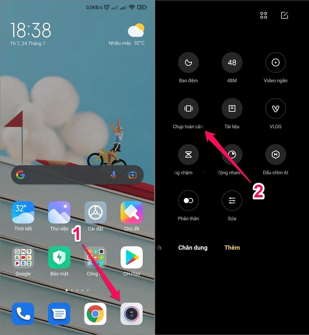 Cách chụp ảnh Panorama trên Android