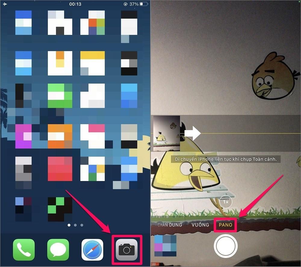 Cách chụp ảnh Panorama trên iPhone