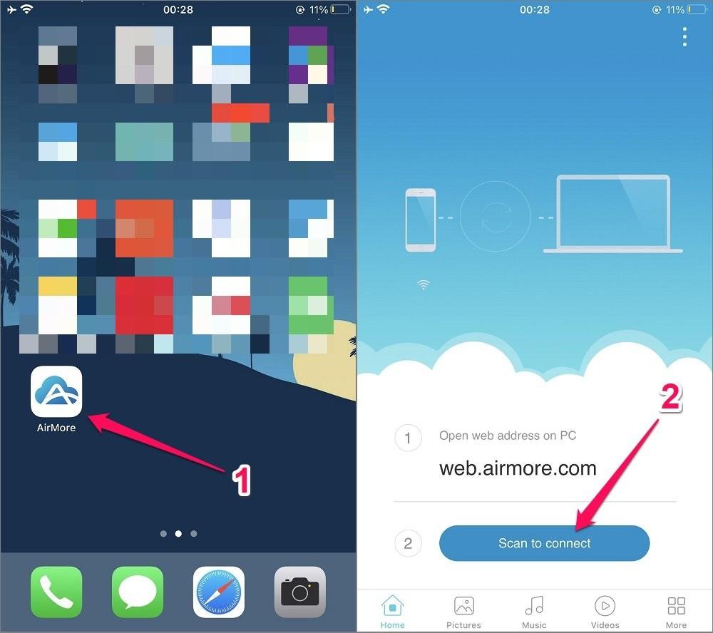 Cách chuyển File từ Máy tính sang Điện thoại iPhone bằng WiFi