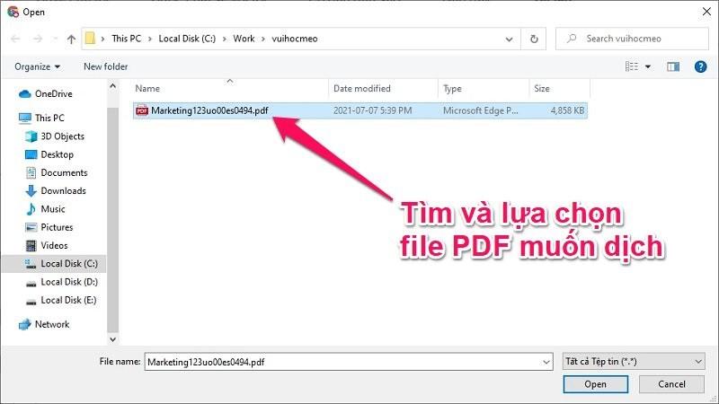 Cách dịch file PDF online bằng Google Docs