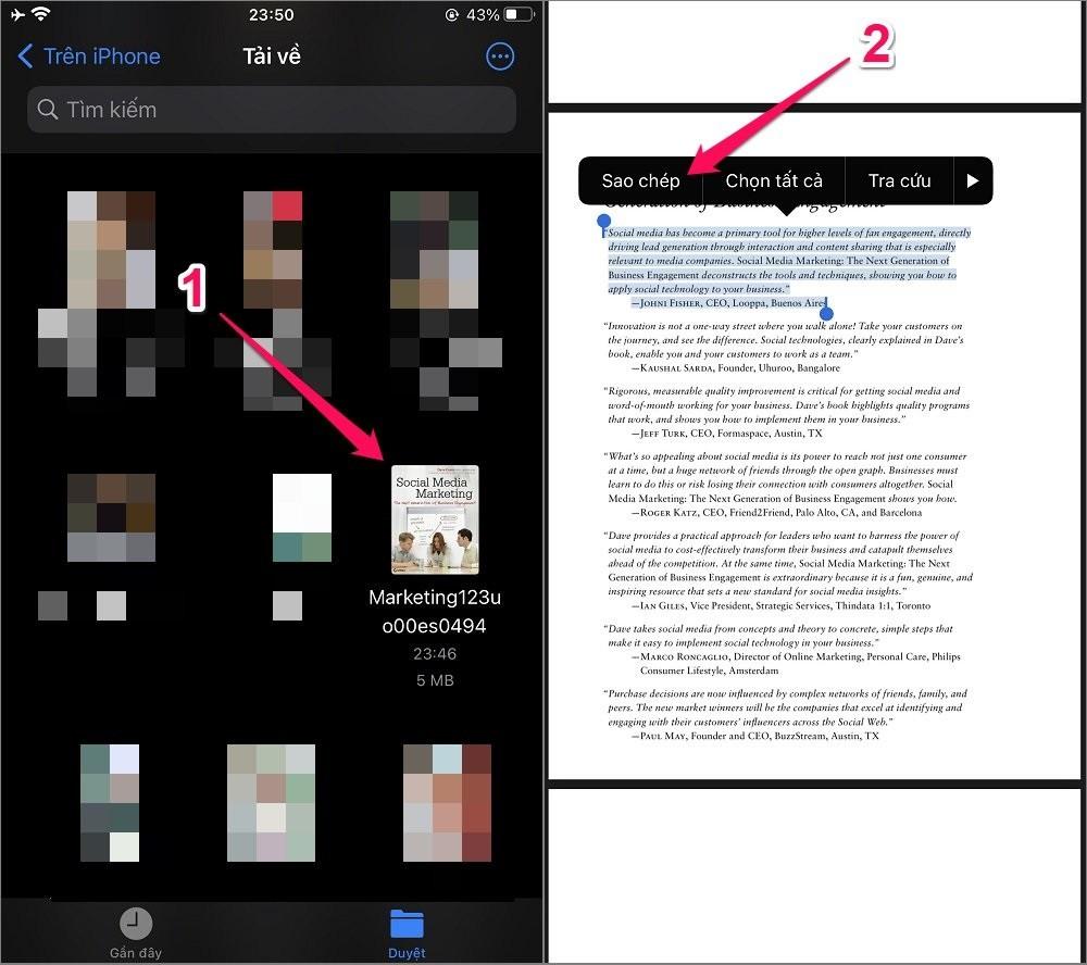 Cách dịch file PDF trên điện thoại iPhone/Android