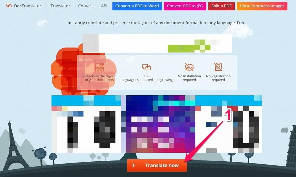 Cách dịch toàn bộ file Word online với Doc Translator