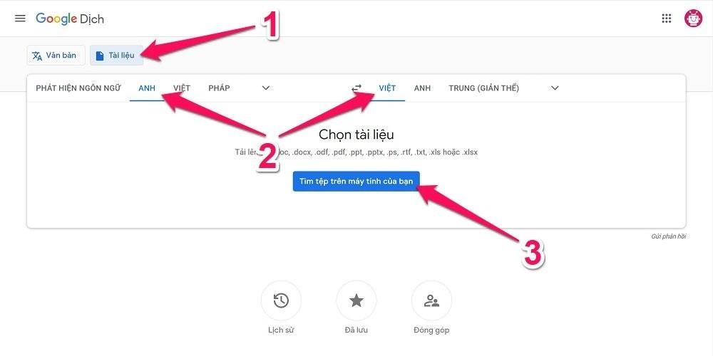 Cách dịch toàn bộ file Word online với Google Translate