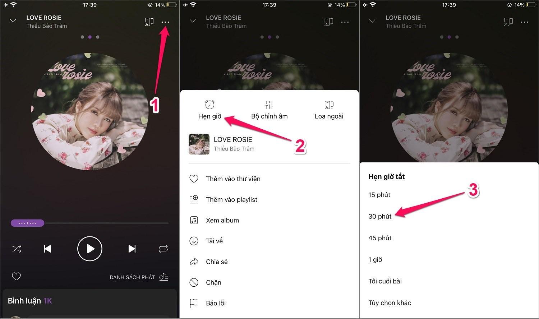 Cách hẹn giờ tắt nhạc Zing MP3 trên iPhone/Android