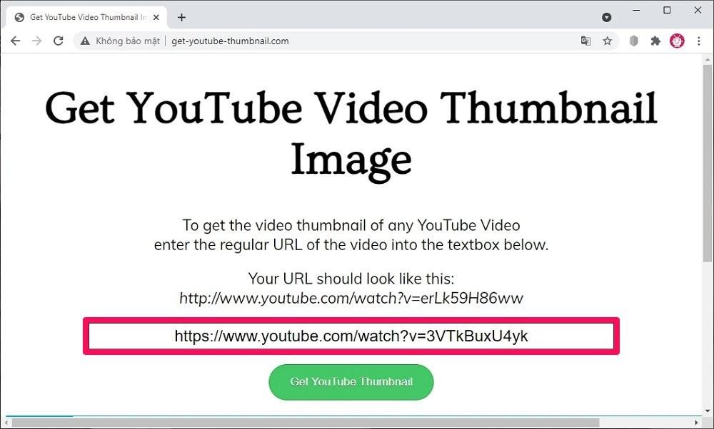Cách lấy ảnh thumbnail của video YouTube