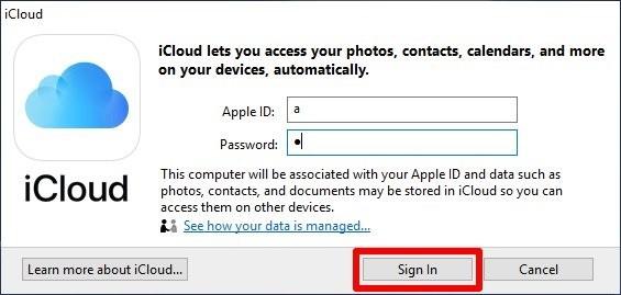 Cách lấy ảnh từ iCloud về Máy tính qua Phần mềm iCloud