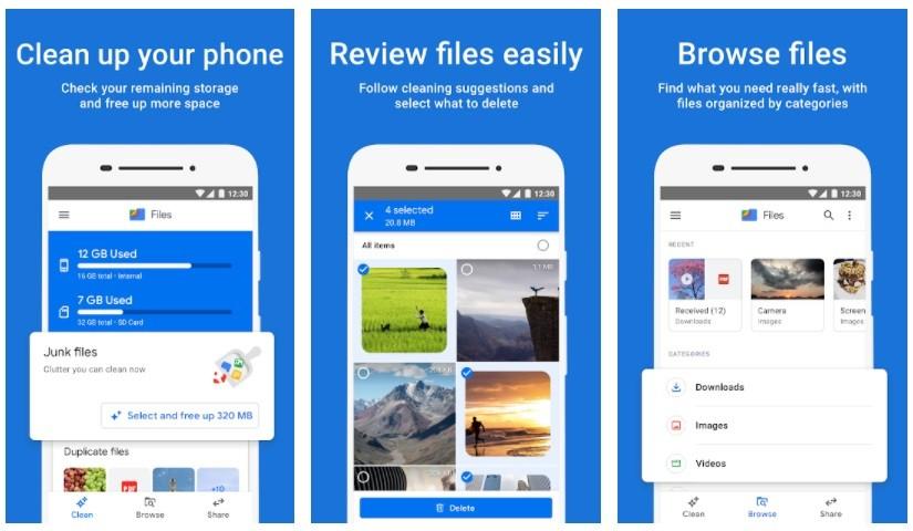 Cách xóa file trùng lặp trên Android bằng Files by Google