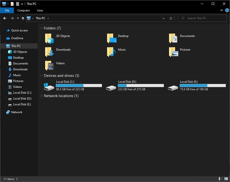 Chế độ Dark Mode/Light Mode trên Windows 10