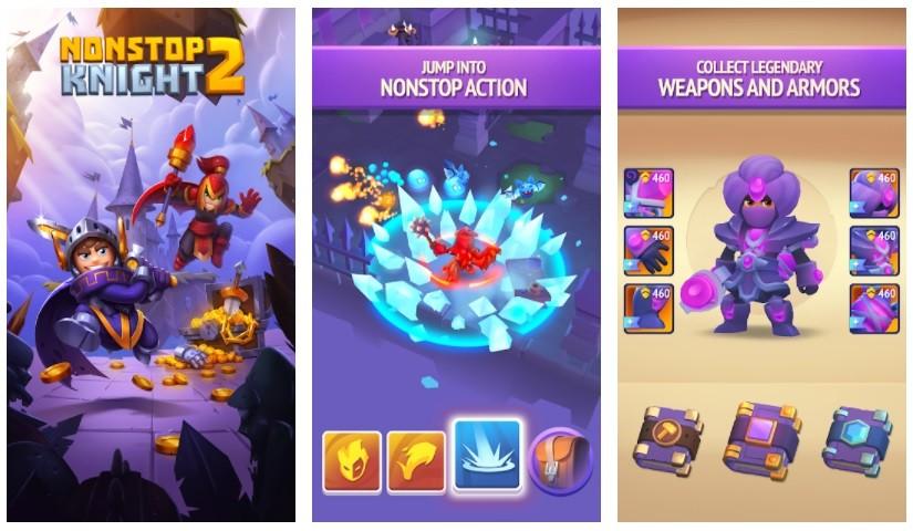 Game chặt chém hay nhất cho điện thoại Android/iPhone - Nonstop Knight 2