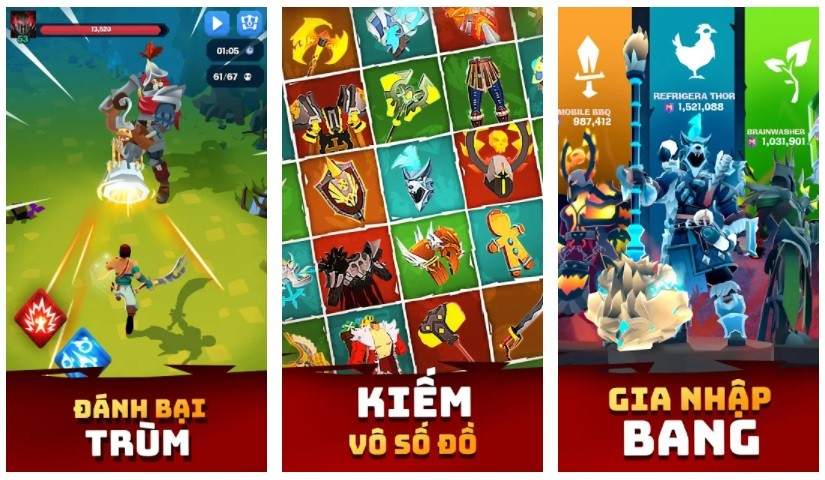 Game chặt chém hay nhất cho điện thoại Android/iPhone - Mighty Quest for Epic Loot