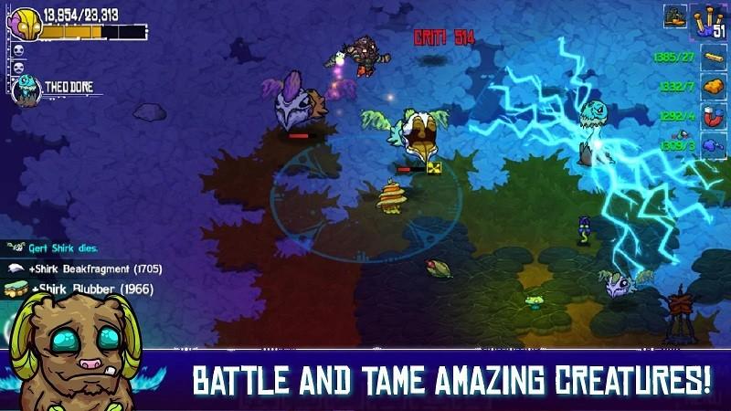 Game co-op hay trên điện thoại - Crashlands