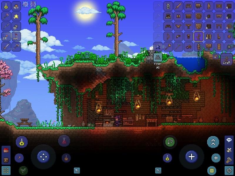 Game co-op hay trên điện thoại - Terraria