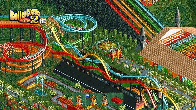 Game kinh doanh hay nhất cho PC - RollerCoaster Tycoon 2