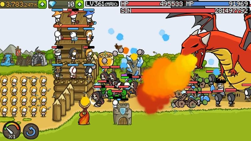 Game thủ thành (tower defense) hay nhất trên Android/iOS - Grow Castle