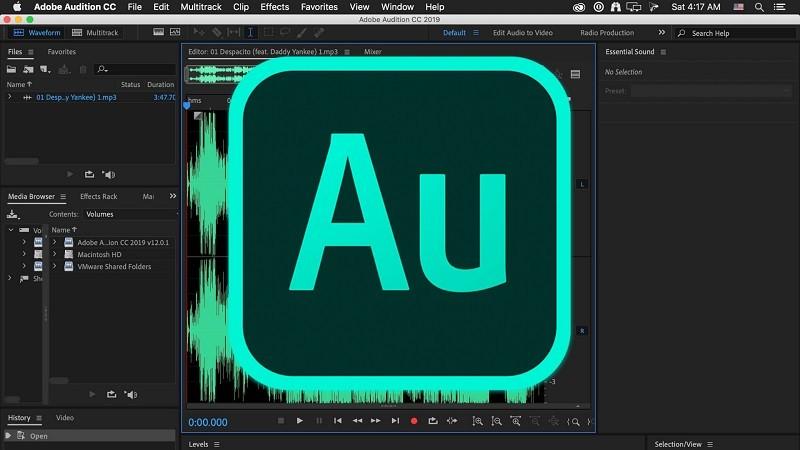 Phần mềm chỉnh giọng hát hay trên máy tính - Adobe Audition