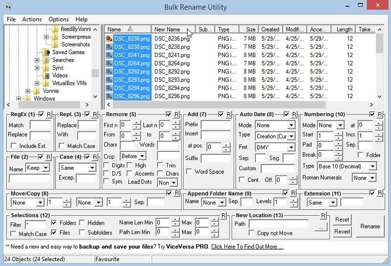 Phần mềm đổi tên File hàng loạt - Bulk Rename Utility