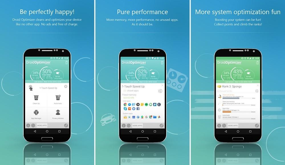 Phần mềm giảm LAG khi chơi game trên Android - Droid Optimizer
